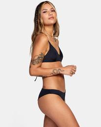 5 Solid Crossback Tie Bikini Top Black AVJX300199 RVCA