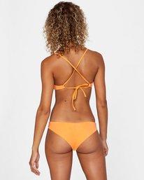 2 Solid Crossback Tie Bikini Top Orange AVJX300199 RVCA