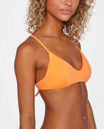 6 Solid Crossback Tie Bikini Top Orange AVJX300199 RVCA