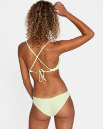 1 Solid Crossback Tie Bikini Top Green AVJX300199 RVCA