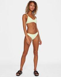 2 Solid Crossback Tie Bikini Top Green AVJX300199 RVCA