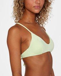 5 Solid Crossback Tie Bikini Top Green AVJX300199 RVCA