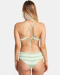 1 Ziggy Printed Crossback Tie D-Cup Bikini Top White AVJX300202 RVCA