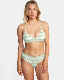 0 Ziggy Printed Crossback Tie D-Cup Bikini Top White AVJX300202 RVCA