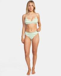 2 Ziggy Printed Crossback Tie D-Cup Bikini Top White AVJX300202 RVCA