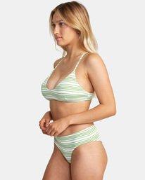 3 Ziggy Printed Crossback Tie D-Cup Bikini Top White AVJX300202 RVCA