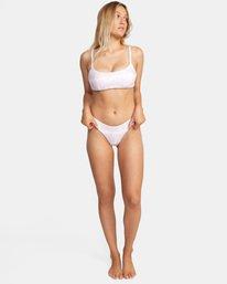 2 Live And Let Dye Printed Bralette Slider Strap D-Cup Bikini Top Purple AVJX300203 RVCA