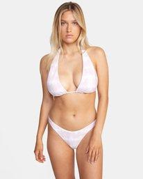 0 Live And Let Dye Halter D-Cup Bikini Top Purple AVJX300204 RVCA