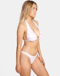 4 Live And Let Dye Printed Halter Tie D-Cup Bikini Top Purple AVJX300204 RVCA