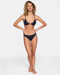 3 Solid Fixed Triangle Bikini Top Black AVJX300207 RVCA