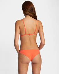 2 Solid Fixed Triangle Bikini Top  AVJX300207 RVCA