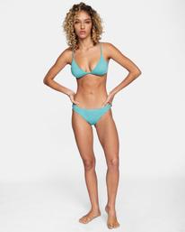 3 Solid Fixed Triangle Bikini Top Green AVJX300207 RVCA