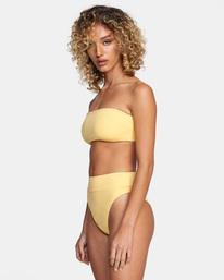 6 Solid Tie-Back Halter Bandeau Bikini Top White AVJX300208 RVCA