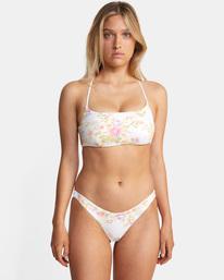 0 Mary Printed Crossback D-Cup Bikini Top White AVJX300216 RVCA