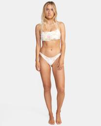 2 Mary Printed Crossback D-Cup Bikini Top White AVJX300216 RVCA
