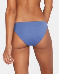 5 Solid Low-Rise Full Coverage Bikini Bottom Blue AVJX400118 RVCA