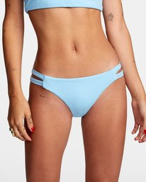 2 Solid Low-Rise Full Coverage Bikini Bottom Black AVJX400118 RVCA
