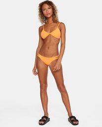 2 Solid Low-Rise Full Coverage Bikini Bottom Orange AVJX400118 RVCA