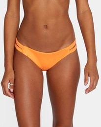 4 Solid Low-Rise Full Coverage Bikini Bottom Orange AVJX400118 RVCA
