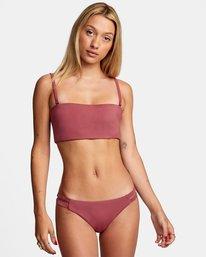 1 Solid Low-Rise Full Coverage Bikini Bottom Purple AVJX400118 RVCA