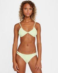 1 Solid Low-Rise Full Coverage Bikini Bottom Green AVJX400118 RVCA