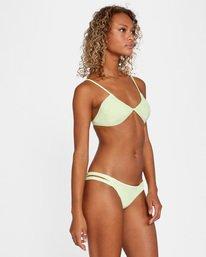 3 Solid Low-Rise Full Coverage Bikini Bottom Green AVJX400118 RVCA