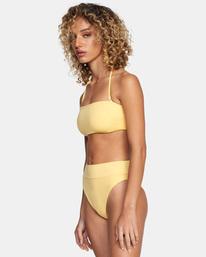 3 Solid High-Rise Cheeky Bikini Bottom White AVJX400121 RVCA