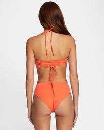 0 Solid High-Rise Cheeky Bikini Bottom  AVJX400121 RVCA