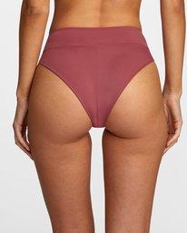 4 Solid High-Rise Cheeky Bikini Bottom Purple AVJX400121 RVCA