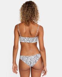 0 Animal Instincts Printed Low-Rise Cheeky Bikini Bottom White AVJX400126 RVCA