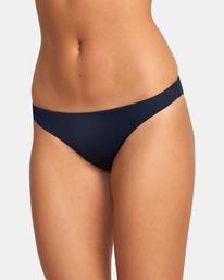 7 Solid Low-Rise Medium Coverage Bikini Bottom Black AVJX400130 RVCA