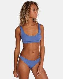 2 Solid Low-Rise Medium Coverage Bikini Bottom Blue AVJX400130 RVCA