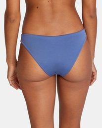 6 Solid Low-Rise Medium Coverage Bikini Bottom Blue AVJX400130 RVCA