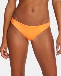 4 Solid Low-Rise Medium Coverage Bikini Bottom Orange AVJX400130 RVCA