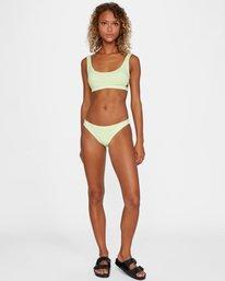 3 Solid Low-Rise Medium Coverage Bikini Bottom Green AVJX400130 RVCA