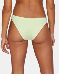 6 Solid Low-Rise Medium Coverage Bikini Bottom Green AVJX400130 RVCA