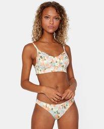 1 On The Road Printed Low-Rise Medium Coverage Bikini Bottom Brown AVJX400160 RVCA