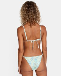 2 Fields Of Dreams Printed Mid-Rise French Bikini Bottom Red AVJX400162 RVCA