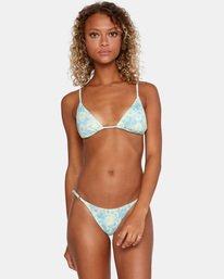 3 Fields Of Dreams Printed Mid-Rise French Bikini Bottom Red AVJX400162 RVCA