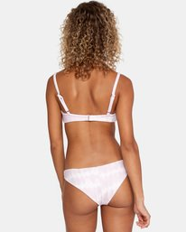 1 Live And Let Dye Printed Low-Rise Cheeky Bikini Bottom Purple AVJX400165 RVCA
