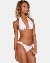 3 Live And Let Dye Printed Mid-Rise French Bikini Bottom Purple AVJX400166 RVCA