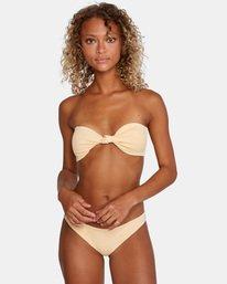 1 Run Wild Printed Low-Rise Medium Coverage Bikini Bottom Red AVJX400167 RVCA