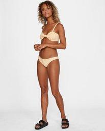 2 Run Wild Printed Low-Rise Medium Coverage Bikini Bottom Red AVJX400167 RVCA