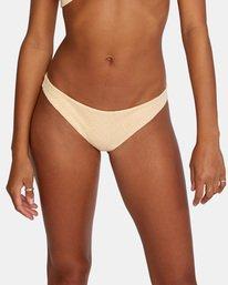 4 Run Wild Printed Low-Rise Medium Coverage Bikini Bottom Red AVJX400167 RVCA