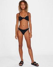 2 Run Wild Printed Low-Rise Medium Coverage Bikini Bottom White AVJX400167 RVCA
