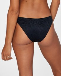5 Run Wild Printed Low-Rise Medium Coverage Bikini Bottom White AVJX400167 RVCA