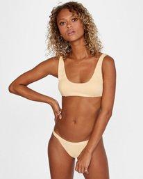 1 Run Wild Printed Low-Rise Cheeky Bikini Bottom Red AVJX400168 RVCA
