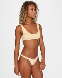 3 Run Wild Printed Low-Rise Cheeky Bikini Bottom Red AVJX400168 RVCA