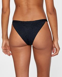 5 Run Wild Printed Low-Rise Cheeky Bikini Bottom White AVJX400168 RVCA