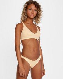 3 Run Wild Printed Mid-Rise French Bikini Bottom Red AVJX400169 RVCA